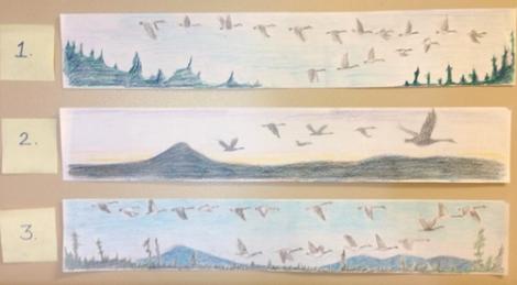 geese mural