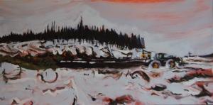 skidding logs