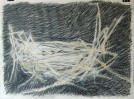 unbagged straw drawing 22x30 graphite, charcoal conte pastel