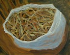 hay in a plastic bag wip day 1